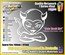 Cheeky Devil Girl Vinyl Decal Sticker - Car, Laptop, iPad, Fridge, Window, Truck