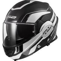 LS2 ff399 Valiant Lumen Negro Mate Blanco Tapa frontal casco de la motocicleta
