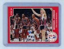1985 STAR MICHAEL JORDAN OLYMPIC 1984 GOLD MEDALIST CARD #9 HSN
