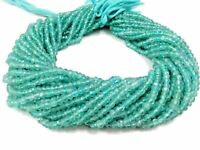 """1 Strand Apatite Rondelle Faceted Gemstone Beads 3.5-4mm 13""""Inch"""