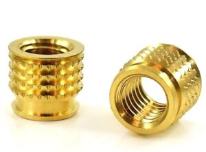 THREADED BRASS INSERTS FOR PLASTIC SOLID PRESS FIT METRIC BARBED M2 M3 M4 M5 M6