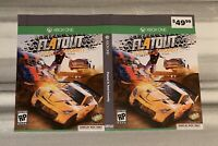 SHIPS SAME DAY Rare GameStop *Display Box Only Flatout 4 Xbox One Cover Art Only