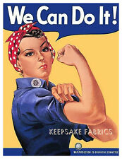 "Rosie the Riveter ""We Can Do It"" Crazy Quilt Block FrEE ShiPPinG WoRld WiDE c"