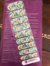 "Jamberry ""Zen Garden"" 2015 retired Rare nail wraps half sheet 1/2"