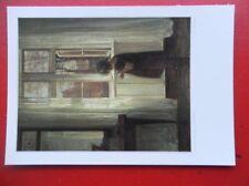 POSTCARD CARL HOLSOE - SMALL GIRL BY THE WINDOW