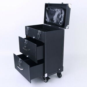 Makeup Trolley Suitcase Nail Beauty Hairdressing Drawer Organizer Box Travel Bag