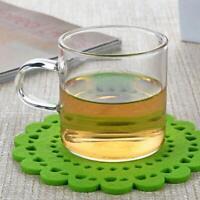 4pcs Glass Tea Cup Clear Borosilicate Glass Cups Set 4oz/120ml Coffee Cups Mug