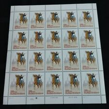 Buffalo Soldiers Stamp Sheet Of 20 29C Stamps