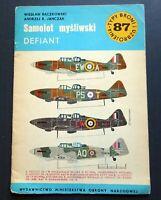 1983 Jet Fighter Plane DEFIANT Aviation Aircraft Polish Book Magazine Brochure