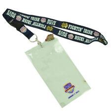 Notre Dame Fighting Irish BCS 2013 Landyard ID Holder Keys Badge Detachable