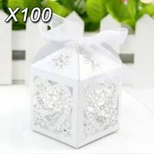 100x weiß Hochzeit Gastgeschenke Box Geschenkverpackung Schachtel Kartonage