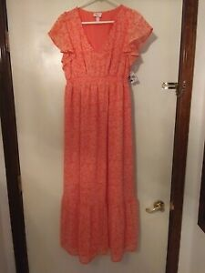 Isabel Women's S Maternity long formal Summer Dress Sleeveless New With Tags