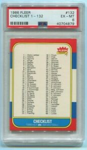 Checklist 1986 Fleer Basketball PSA 6 EX-MT - New PSA Holder