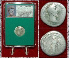 Ancient Roman Empire Coin LUCIUS VERUS Aequitas Silver Denarius