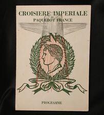 "CGT FRENCH LINE SS ""FRANCE"" Signed Concert Program 1969"