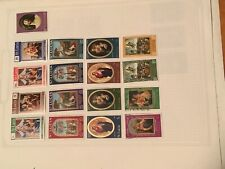 St Lucia Page Of Stamps.