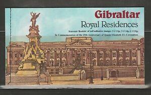 Gibraltar MNH 1978 Royal Residences Complete Booklet