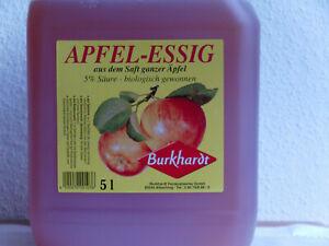 Apfelessig,(EUR 2,30/1 L)5% Säure biologisch gewonnen, Burkhardt 5 L Kanister