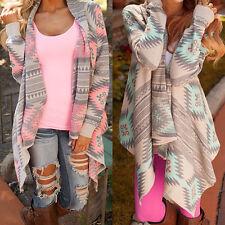 Women's Long Sleeve Cardigan Loose Sweater Knitted Ladies Outwear Jacket Coats