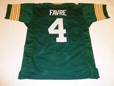 BRETT FAVRE unsigned green pro style jersey adult mens XL