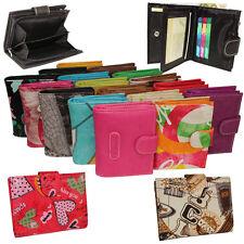 Damen Geldbeutel Damenbörse Geldbörse Börse Riegelbörse viele Farben Kunstleder