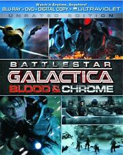 BATTLESTAR GALACTICA BLOOD & CHROME New Sealed Blu-ray + DVD