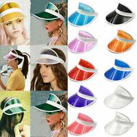 Hot Women Men Cap Transparent Sports Hat UV Protection Sun PVC Hat Visor Summer