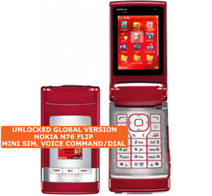 NOKIA N76 FLIP Mini Sim 2.0mp Camera Voice Command Symbian OS 3g Mobile Phone