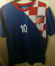 Croatia Euro 2012 Away Shirt MODRIC 10  Croatian Medium Top Strip HRVATSKA