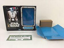 "Custom Vintage Star Wars 12"" r2-d2 MORTE NERA BOX + inserti versione moderna"
