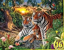 Jigsaw Puzzle Animal Wild Jungle Pride Glow in Dark Hidden Images 550 piece NEW