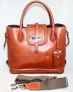 DOONEY & BOURKE Florentine Toscana Side Zip Satchel Ginger Leather & Suede