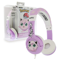 POKEMON JIGGLYPUFF HEADPHONES ON-EAR WIRED KIDS BY OTL TECH - PURPLE - PK0568