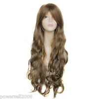 European Style Fashion Beautiful Long Curly Hair Fringe Girls/Women Wigs D-4