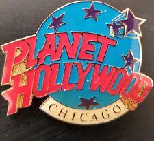 Planet Hollywood Pin / Badge Chicago Classic Light Blue Globe Logo