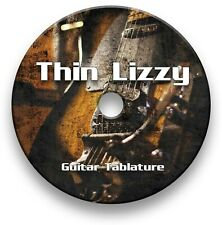 Thin Lizzy Rock Metal Guitar Tabs Tablature Lesson Software CD - Guitar Pro