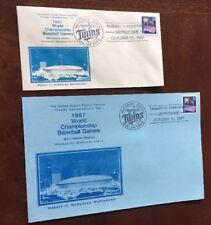 1987 World Championship Baseball Games Mn Twins, USPS Postal Card Commemorative