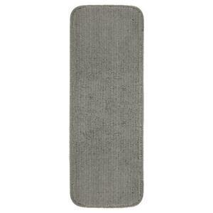Ottomanson Stair Tread Cover Gray 9 in. x 26 in. Non-Slip Rubber Back (5-Set)