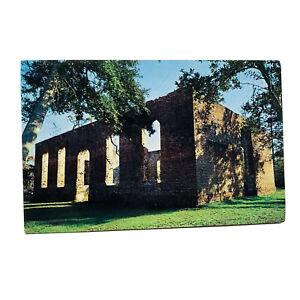 Wilmington North Carolina Ruins Of St Philips Church Postcard