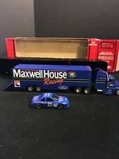 RACING CHAMPIONS MAXWELL HOUSE RACING TEAM TRANSPORTER BLUE 1/64 DIECAST
