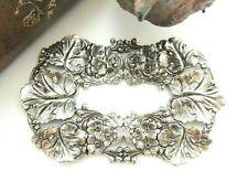 & Leaf Frame Stampings (C-909) Antique Silver Victorian Summer Garden Flower