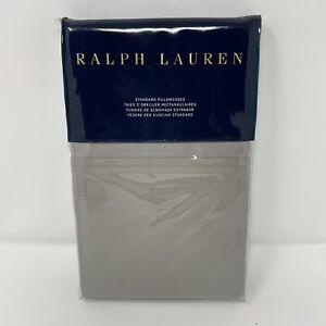 Ralph Lauren Bedford Sateen Two Standard Pillowcases 100% Cotton Grey Dawn 800TC