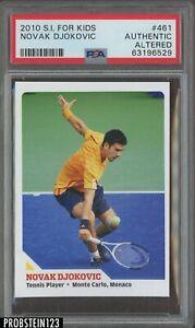 2010 Sports Illustrated SI For Kids Tennis #461 Novak Djokovic PSA Authentic