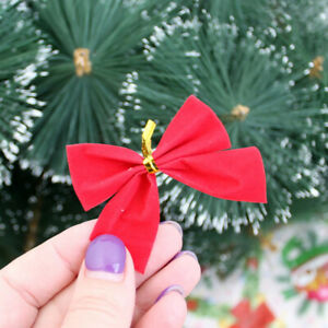 12pcs Christmas Butterfly bow Hanging deco for Christmas decoration