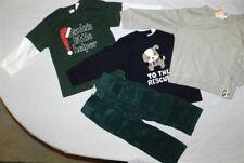 Pant Set Gymboree Green Corduroy 4pc Black Oatmeal Shirt Boys size 3T New