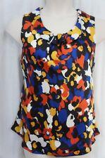 Nine West Blouse Sz 3X Sienna Multi Color Autumn Sleeveless Business Casual Top