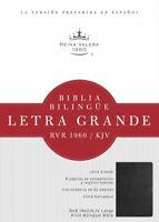 Holy Bible : RVR 1960/KJV Negro, Imitacion Piel, Biblia Bilingue, Letra Grand...