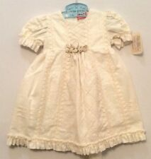 NWT Little Angels Ivory Embroidered Christening Special Occasion Dress, 18-24 mo