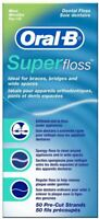 Oral B Dental Super Floss for Braces Bridges and Wide Spaces - 50 m