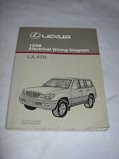 1998 Lexus LX470 LX 470 electrical wiring service manual shop repair rare
